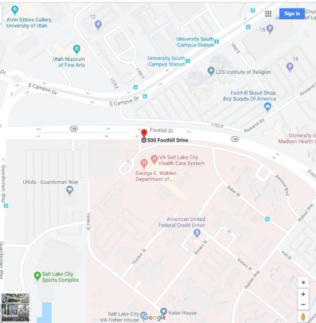 Salt Lake City GRECC Connect site map location