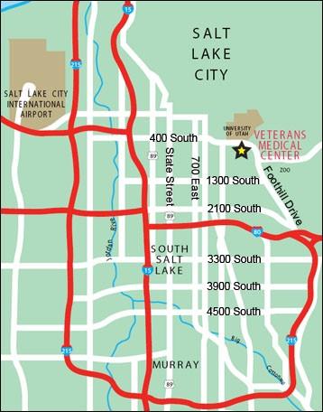 Salt Lake City GRECC Connect site map